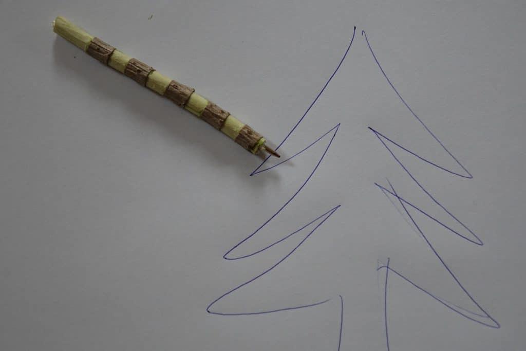 Kugelschreiber aus einem Holunderast