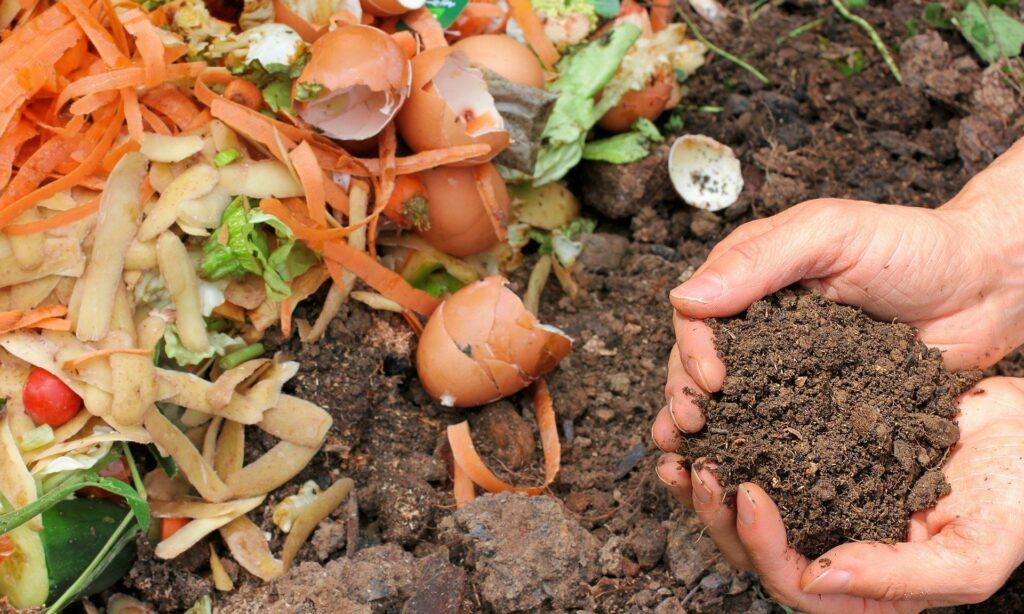 Kompostieren ein wichtiges Element in der Permakultur. Mit dem Entstehenden Humus wird die Bodenqualität verbessert