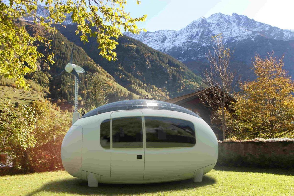 Die erste Ecocapsule der Schweiz steht in Guttannen. Das energieautarke Tinyhouse ist ein wunder der Technik
